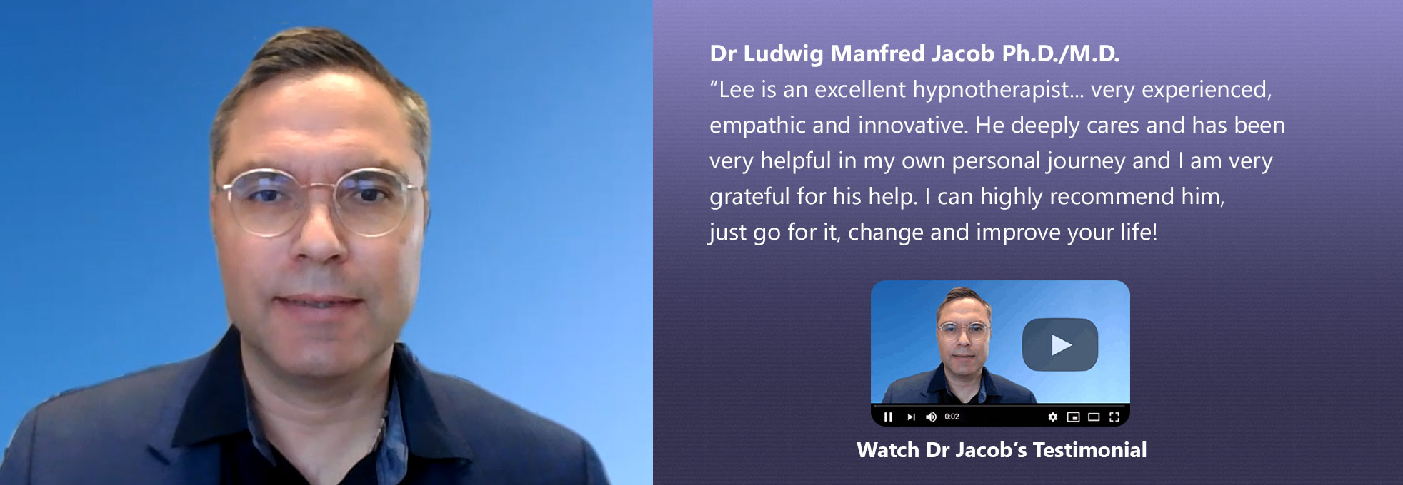 Dr Ludwig Manfred Jacob Ph.D./M.D. Review
